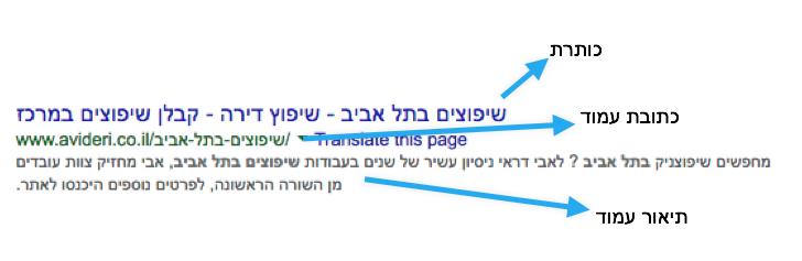 איך האתר שלי מוצג בתוצאות החיפוש